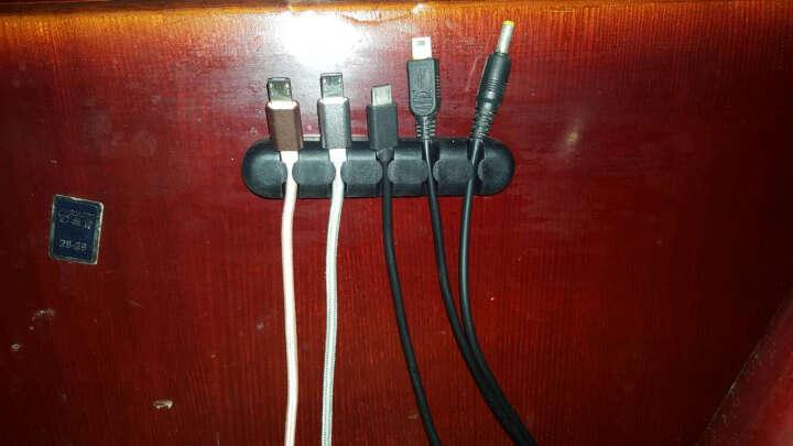 奥睿科(ORICO) 绕线器数据线缠线器电脑桌面理线器电线固线器耳机线收线夹 CBS5-5口黑色 晒单图