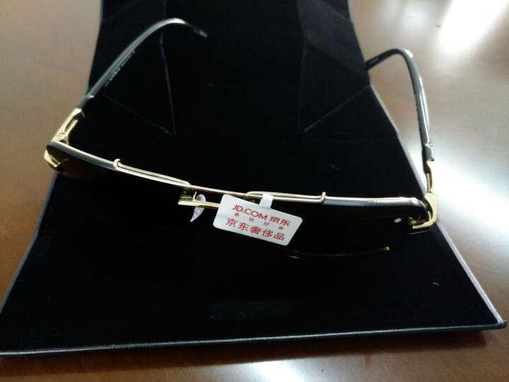 万宝龙(MONTBLANC)男款无框黑镜腿灰色镜片眼镜太阳镜 MB658S-08A 59MM 晒单图