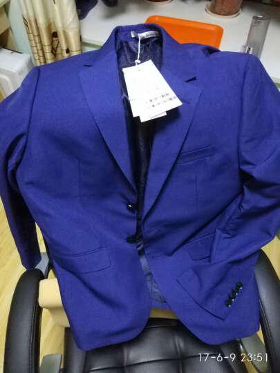 阿仕顿(Artsdon)秋季新品西服英伦修身商务休闲男士小西装外套 藏青 170/M 晒单图