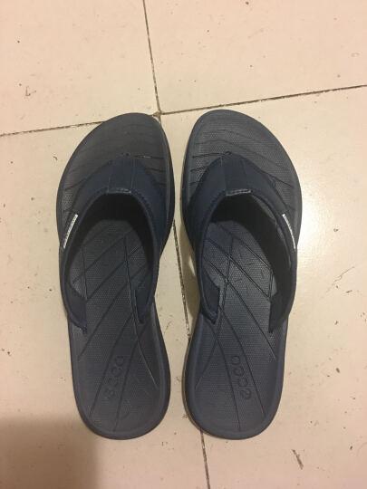 ECCO爱步 新款夹趾凉鞋男 时尚舒适沙滩鞋人字拖880014 海军蓝 41 晒单图
