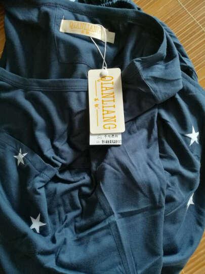 茜靓 2017夏季新款纯棉男士睡衣套装来自星星的你针织全棉休闲背心短裤运动家居服 灰色 男款175/96(XL码) 晒单图
