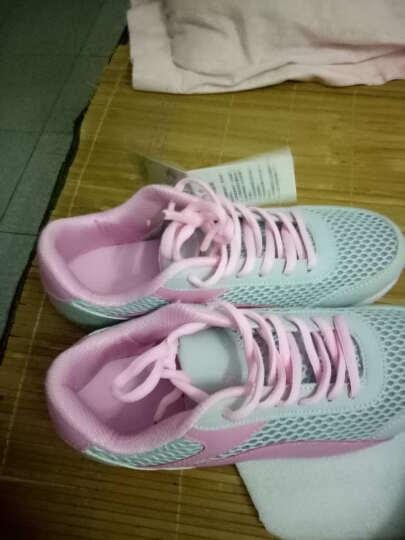 艾朵乐2017新款韩版春夏季平底女鞋运动休闲鞋网面旅游松糕鞋 粉色-网面 38 晒单图