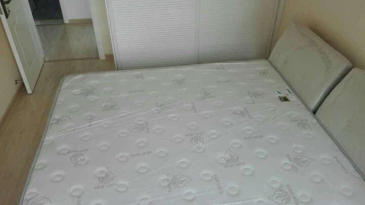 雅菲雪 床 实木床1.8米双人床1.5米北欧床B02 原木色床+14CM山棕床垫 1800*2000 晒单图