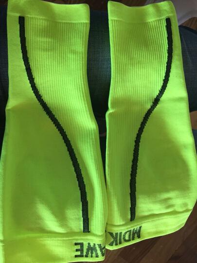 曼迪卡威护腿 篮球护小腿套足球装备 男女跑步户外运动防撞护膝护腿 荧光绿 两只装 XL 晒单图