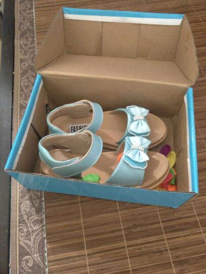 闪卡女童凉鞋 夏季沙滩儿童凉鞋牛皮中大童韩版女孩童鞋公主鞋2017新款 818-粉色 35码/内长22.2cm 晒单图