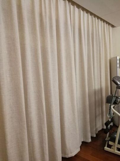 润兰亚麻纯色窗帘棉麻北欧窗纱美式简约客厅定制成品遮光日式麻料纱帘 灰色 一米布(挂钩加工) 晒单图