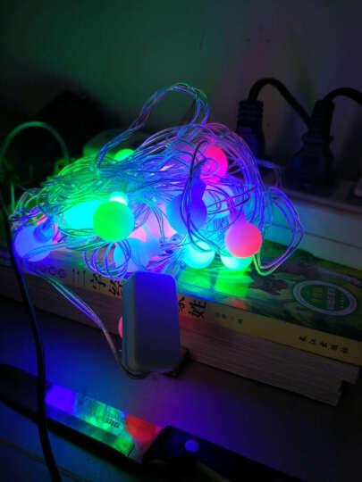 欢乐派对年会用品节日圣诞彩灯led灯串 婚庆节日装饰布置彩灯带尾插LED彩灯串灯 五角星 圣诞树款 9米72头 晒单图