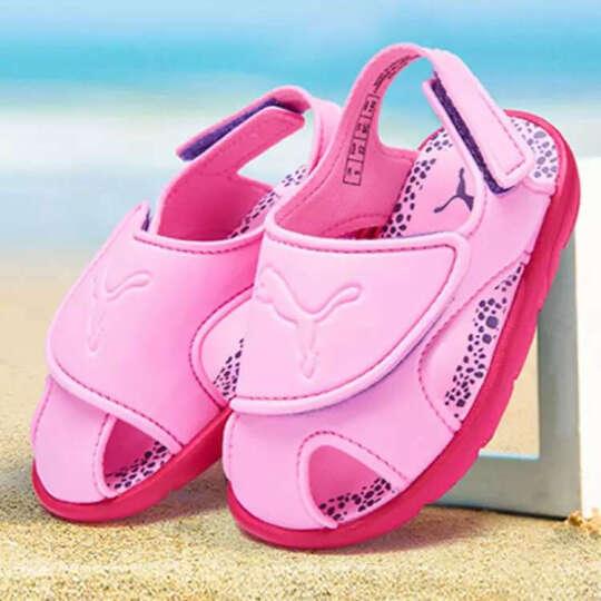 PUMA彪马童鞋2017夏季新品女童男童鞋魔术贴柔软沙滩休闲凉鞋362609 DF 362609-02 7/150mm/24码 晒单图