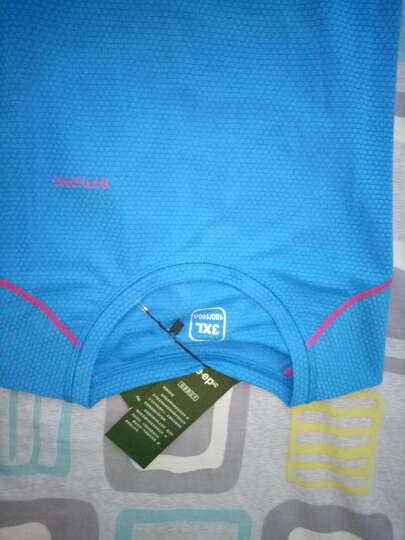JeEpic JEEPic户外速干短袖T恤男女速干衣透气情侣夏季男运动短袖T恤速干跑步 湖蓝-女款 2XL 晒单图