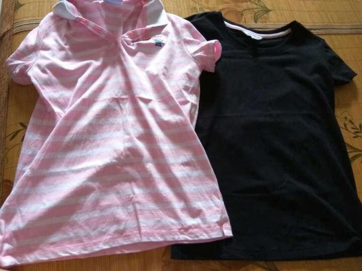 真维斯女装  夏装    弹性棉混纺圆领净色短袖T恤JW-62-273501 8010 黑色 S 晒单图