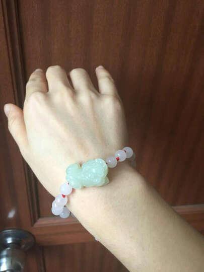 双儿珠宝(SHUANGERZHUBAO)BS107-H 和田白玉貔貅手链男女情侣款手串 附证书 晒单图