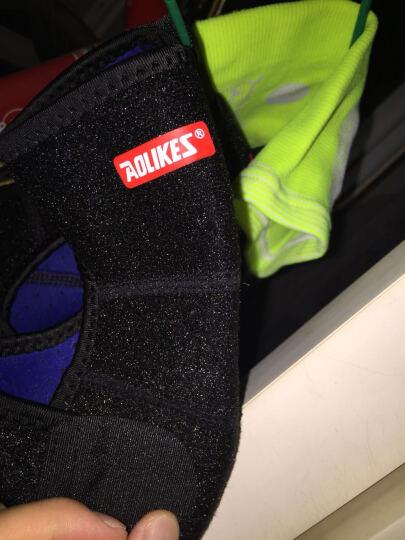 奥力克斯(AOLIKES) 儿童护膝运动 跳舞跪地滑冰骑行足球防摔撞护具舞蹈爬行护腿 玫红蓝边一付 S适合腿围23-32厘米(约2-6岁) 晒单图