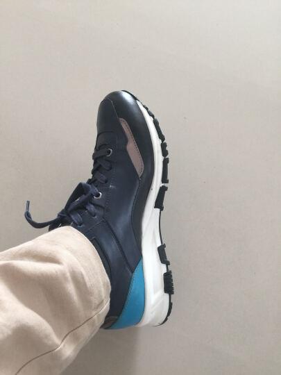 太平鸟男装 男士新款休闲运动鞋时尚户外运动休闲鞋B1ZD62109 黑色+蓝色 41 晒单图