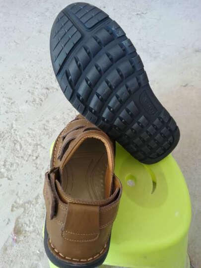 英国[BCS]邦楚仕2019新款凉鞋 男士夏季真皮包头户外沙滩鞋牛皮凉鞋男 16311-1卡其 42 晒单图