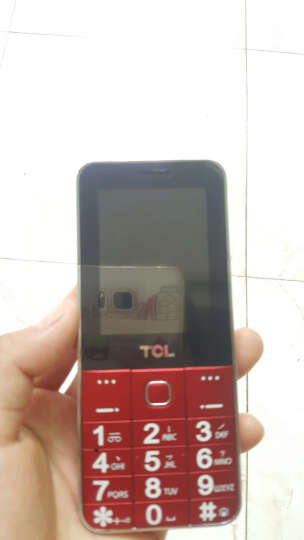 TCL 【通话质量好】GF618 老人手机 移动/联通2G 老年手机 女 直板按键 红色  老年版 晒单图