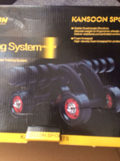 凯速(KANSOON) 凯速 健腹轮腹肌轮俯卧撑轮健身器材家用稳定轴承滚轮滑轮巨轮 四轮套装黑色 晒单图