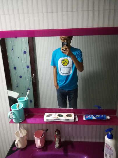 七酷 夏季韩版青少年男士短袖T恤 爱情公寓曾小贤同款纯棉加大码圆领印花学生时尚半袖T恤 黄色 3XL男(胸围116) 晒单图