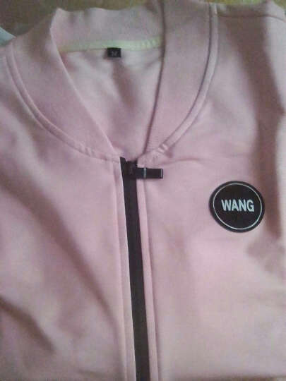 心雅阁 女装新款休闲跑步运动棒球外套三件套装 粉色 M 晒单图