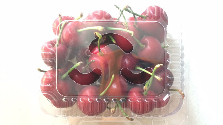 喇叭花草莓盒一次性水果盒透明包装盒枣盒 PVC材质盒一次性塑料樱桃盒蓝莓盒子葡萄盒100个 (约250克装)SM-500 晒单图