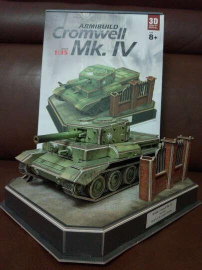 乐立方3d立体拼图纸模型军事坦克 军事战争模型男孩男生玩具创意 美国 谢尔曼坦克 晒单图