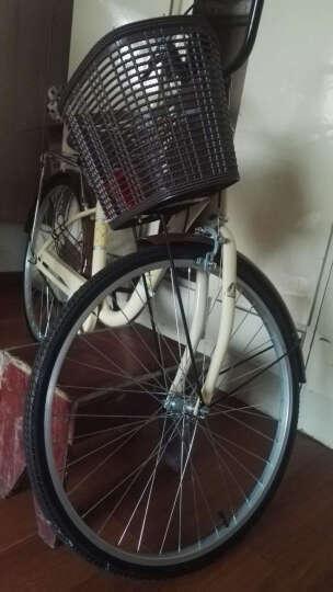 凤凰(Phoenix) 城市自行车轻便通勤自行车女式学生男女复古公主淑女单车 24寸莉莉 米黄 晒单图