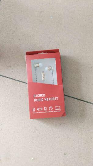 璐菲重低音手机耳机带线控麦K歌适用于/魅族小米/苹果/华为荣耀/三星/OPPO/vivo 土豪金 晒单图