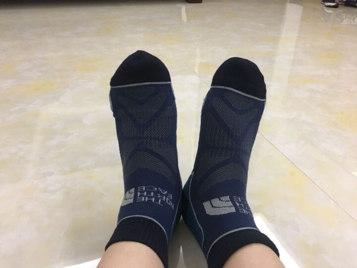 TheNorthFace北面吸湿排汗舒适透气户外徒步男女通用运动袜|2XY5 TZM/蓝色 S 晒单图