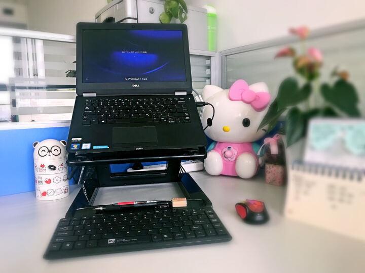安尚(ACTTO) 笔记本电脑散热支架散热器 NBS-07升降折叠角度调节桌面增高架投影仪支架 黑色 无USB扩展口款 晒单图