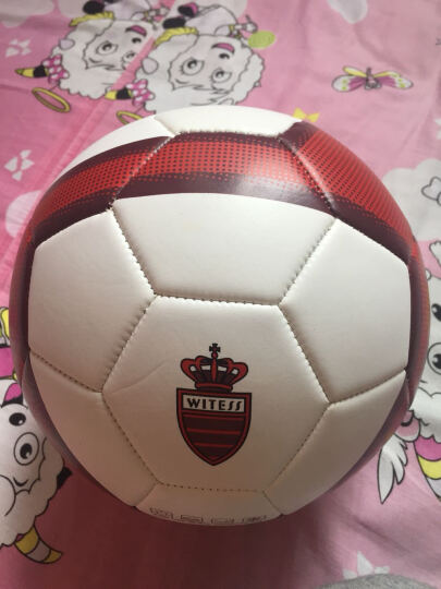 WITESS 足球3号儿童 标准4号5号教学比赛PU皮革 时尚红5号 晒单图
