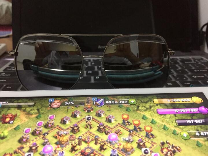 聚高灰蚂蚁偏光太阳镜男款女款通用经典防紫外线太阳眼镜偏光驾驶镜墨镜3D立体眉毛设计 水银膜 晒单图