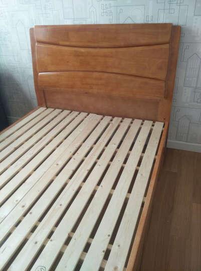 春巢家居(CHUNCHAO) 实木床  双人床1.2 1.5 1.8米床 气高箱储物床 单床【胡桃色】 1.8*2米--气压结构 晒单图