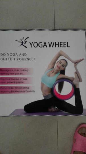 爱活力按摩瑜伽轮达摩轮后弯 普拉提瑜伽圈倒立铺助器健身器 按摩轮紫红色+使用手册 晒单图