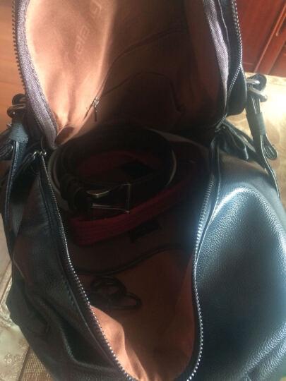 裂狼(LIELANG)双肩背包男士大容量休闲商务旅行包15.6英寸电脑包时尚韩版学生书包 豪华款-USB充电+耳机孔+挂环+小挎包 晒单图