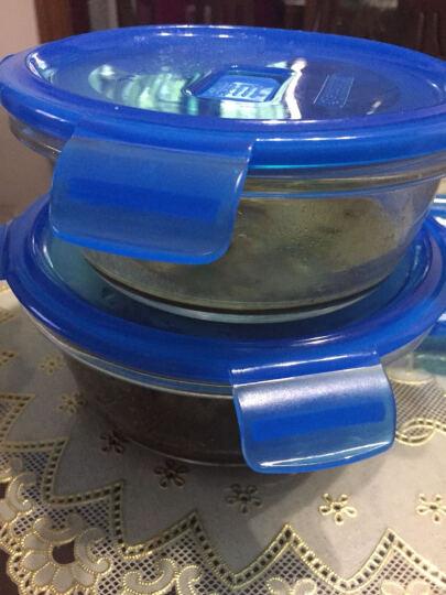 乐美雅(Luminarc) 乐美雅玻璃保鲜盒3件礼盒套装密封冰箱微波炉饭盒厨房收纳盒套装 圆形玻璃保鲜盒三件套 晒单图