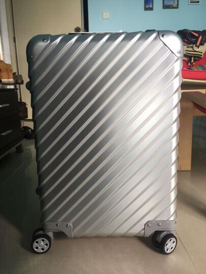 OCCA新款L'armatura斜条纹铝镁合金拉杆箱万向轮金属旅行箱登机箱 黑色 28英寸 晒单图