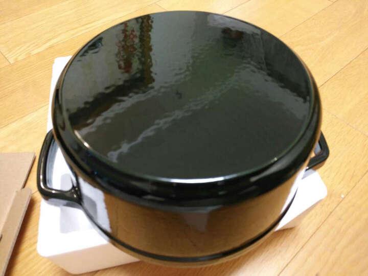 网易严选 传世珐琅锅 铸铁搪瓷炖锅煲汤锅 22cm直径有盖直火电磁炉通用 豆咖棕 晒单图