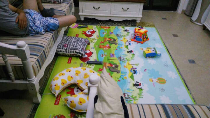 费雪FisherPrice婴儿韩国进口加厚单面宝宝爬行垫 游戏垫BMF15 (150*200*1cm) 晒单图