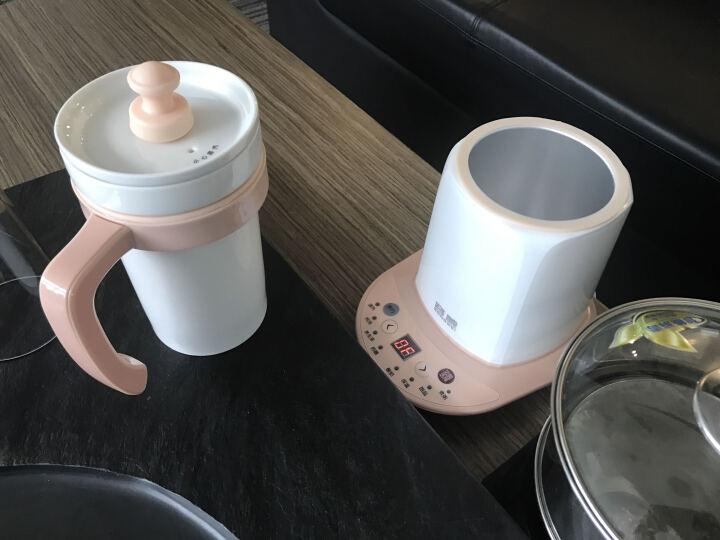 容威 养生杯智能预约电炖杯电热杯大容量陶瓷分体内胆600ML迷你养生壶煮茶热奶煮粥甜品保温 浅卡其色 晒单图