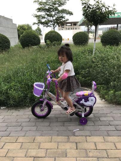脉驰 女孩男孩儿童自行车3-9岁单车14寸小孩童车20寸宝宝的女孩童12-16-18寸 豪华版梦幻紫+礼品 12寸 晒单图