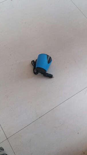 华奈 车载充电器 车充点烟器 3.1A双USB一拖二 电压检测LED数显 独立开关 杯充 44 H9宝石蓝带电压检测 晒单图