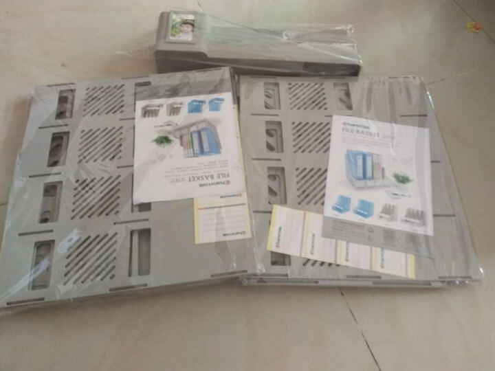 创易文件架 文件夹 文件框 加厚文件座  文件栏  办公用品 配套蓝色A4双强力夹-5只装 晒单图
