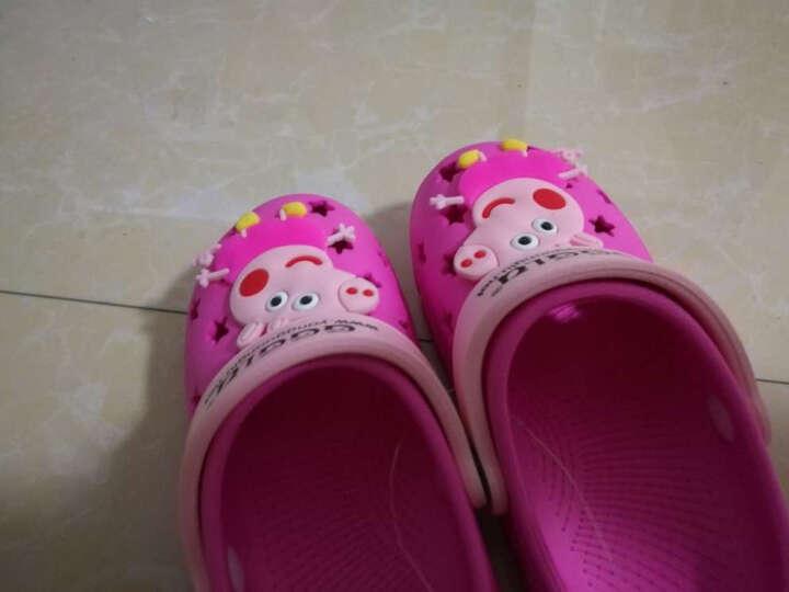 迪士尼 Disney 儿童凉拖鞋 宝宝室内家居鞋洞洞鞋18476天蓝160mm/内长160mm 晒单图