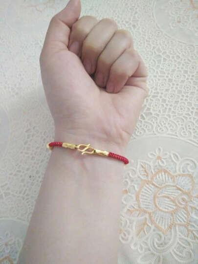 周六福3D硬金转运珠貔貅手链黑绳手链 定价 AD171329 1.4g 可调节 晒单图