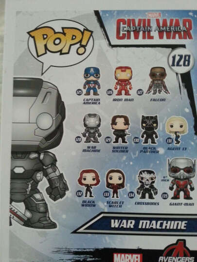 【动漫城】FUNKO POP 漫威周边 美国队长3 战争机器 人偶模型手办公仔摆件礼物 晒单图