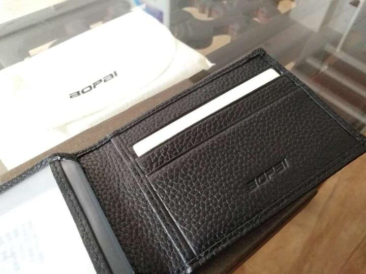 博牌BOPAI 男士真皮驾驶证件套 牛皮超薄卡套卡包男行驶证皮套名片夹 信用卡银行卡包卡夹 咖啡色 晒单图