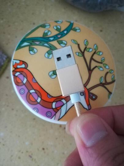 苹果数据线 适用苹果6S/plus/7/8安卓/小米/华为/磁吸数据线充电线 土豪金-情侣套装(安卓+苹果) 晒单图
