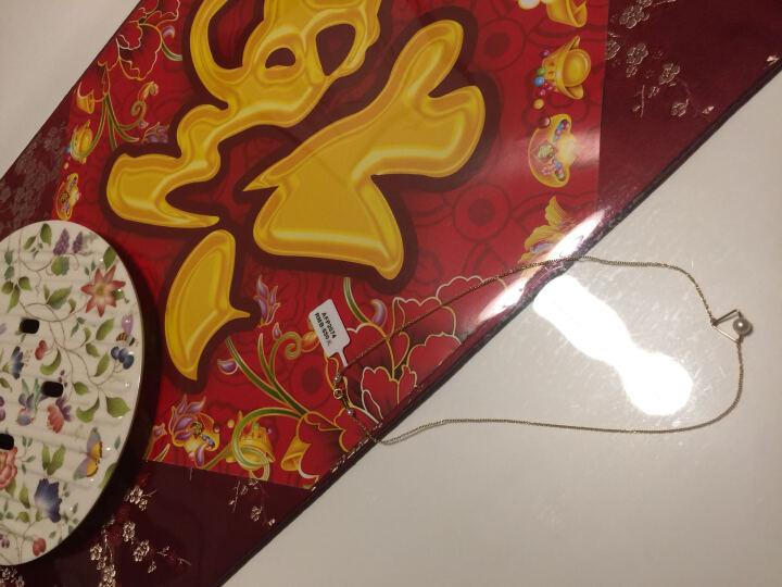 AFFINER 阿菲娜14K金项链女款淡水珍珠几何三角吊坠锁骨链 AFP2074注金款 晒单图
