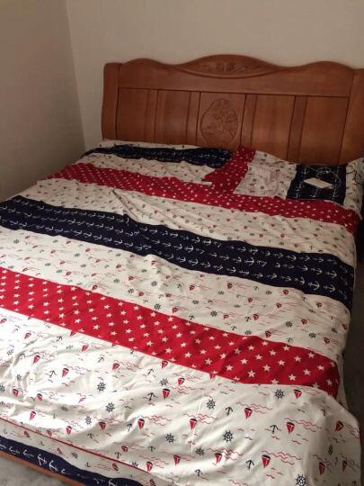 恒源祥家纺 床上用品全棉四件套纯棉印花被套床单床上四件套 柔情花海 1.5米床/被套200*230cm 晒单图