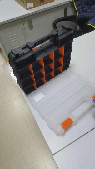 手提工具箱乐高积木收纳盒电子元件盒零配件盒活动格板多格样品盒 G-322 晒单图