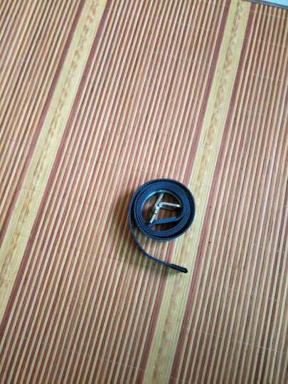 苏木佰SOMUBAY 腰带男士帆布腰带尼龙细皮带 户外休闲窄裤带韩版编织 S08蓝色条纹长125CM(宽3.8cm) 晒单图
